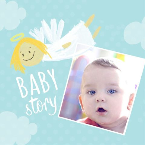 baby story frames