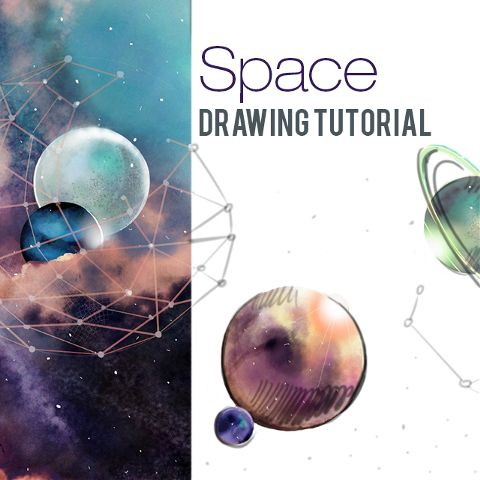 how to draw outer space