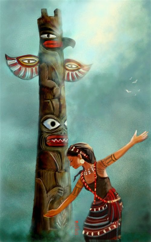 totem pole drawing contest winner
