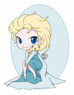 dibujo drawing frozen by elsa