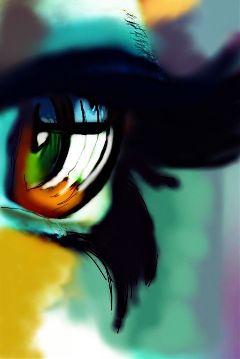 eyes green digitalart digitaldrawing