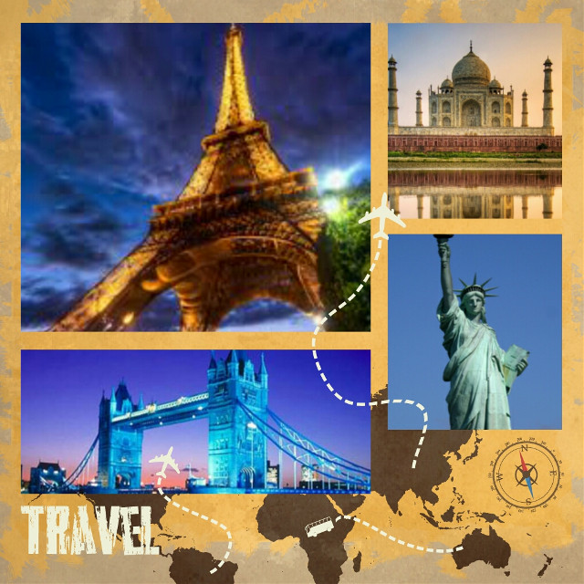 'Paris to london, London to New york, New york to Agra'. Thanku for voting my pic! Its on 4th place 😊 #gdtravelcollage