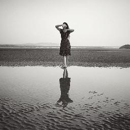 blackandwhite girl photography crossprocess
