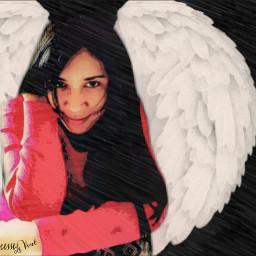 me artisticselfie freetoedit beautifypicsart exposure angel wings