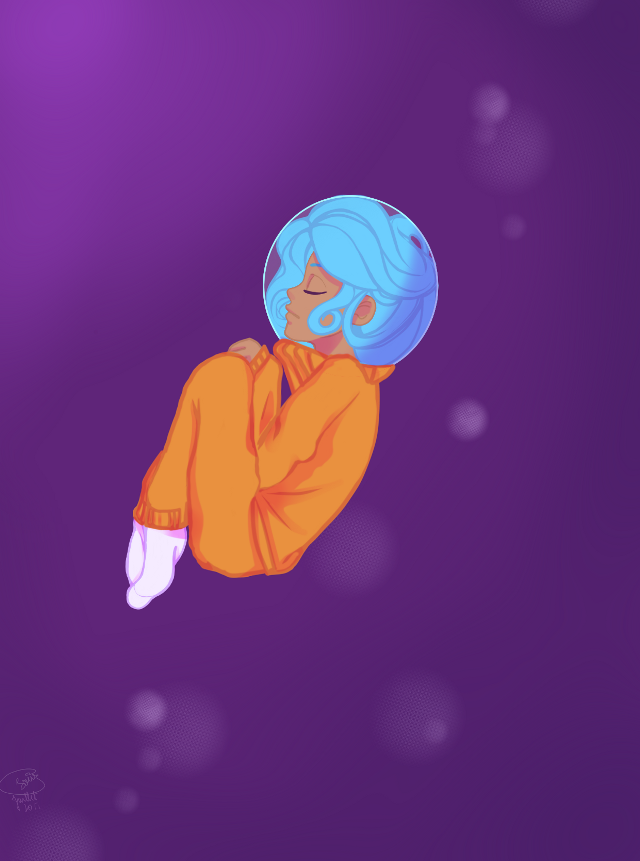 bored '-' #space #bubble #water #colorful