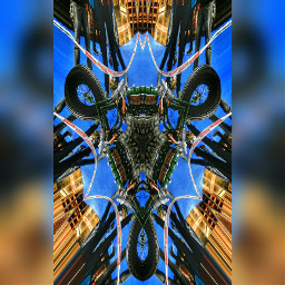 mirrored photography drama colorful