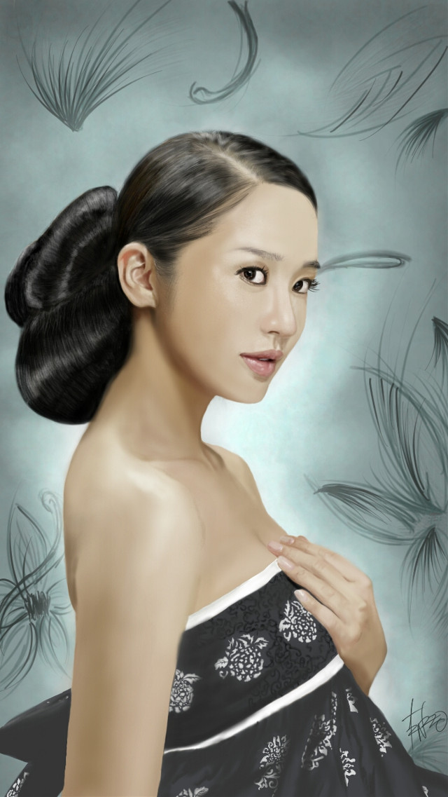 """""""Yoon Eun Hye""""  I was going through my gallery and realized I never posted the original version of this so here it is. 😊  #drawing #art #digitalart #actress #korean #favorites"""