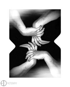 blackandwhite photography border stretchtool hands
