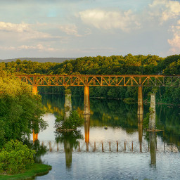 railroad bridge railroadbridge shepherdstown hdr
