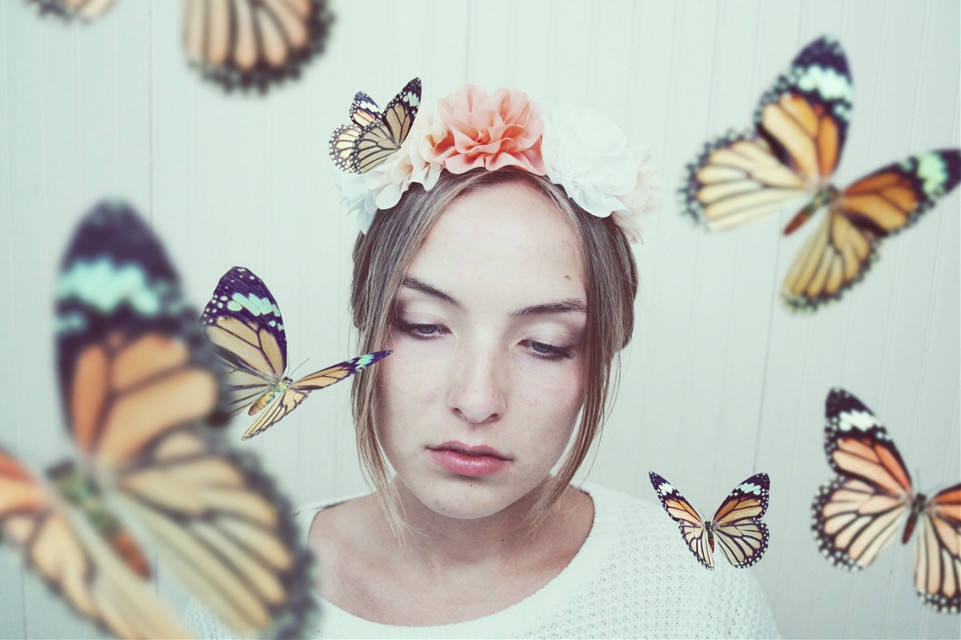 Stomach full of butterflies. #portraits  #selfportrait  #photography  #peoplephotography  #photoshop  #creativeportrait