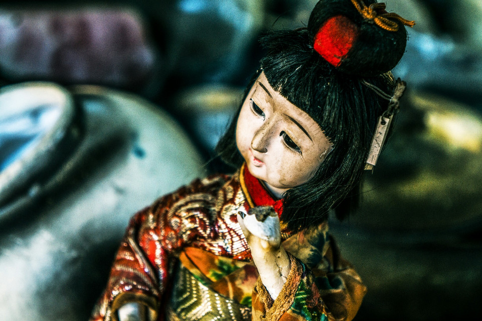Japonese doll  #colorful #emotions #cute #vintage #retro #photography