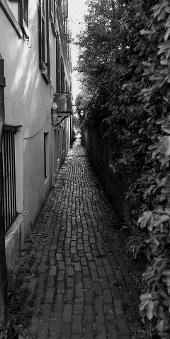 freetoedit symetrical alley path blackandwhite