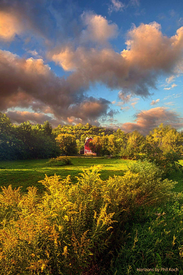 Horizons by Phil Koch.   #colorful #Horizon #sky #earthboundshots #weather #barn #country #peace #wisconsin #beautiful #beauty #canon #sunrise #sunset #landscapephotography #farming #summer #travel #photography #nature #flower #love #emotions