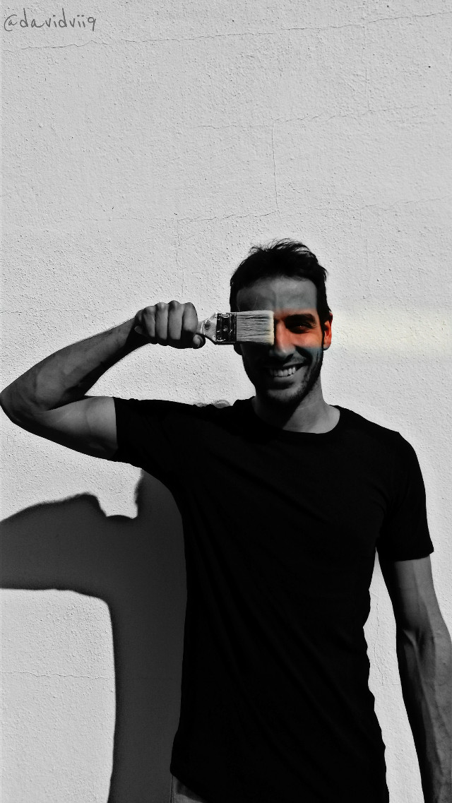 I saw this idea in PicsArt 😁I do not remember who but I liked😅 Good morning friends Have a nice day Imagine Dragons - So sorry 🎵🎵🎵  Smile every day 😆 #blackandwhite #ibiza #me