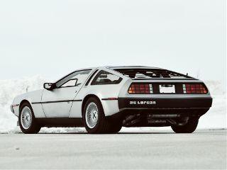 cars delorean retrowave 1980s
