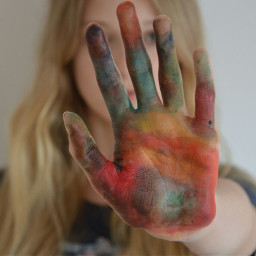 colorsplash colorful colors hand girl