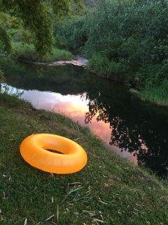 float sunset picsart