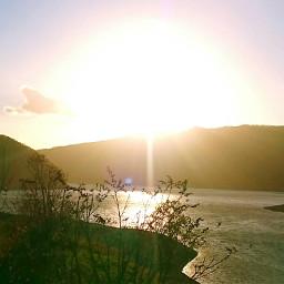 japan hokkaido sunset lake_kanayama minamifurano