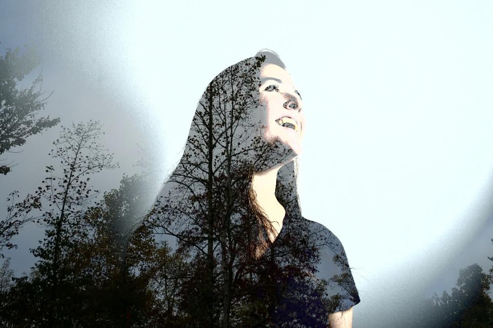 #portrait #overlay #lighten #person #smile #autumn #doubleexposure #tree #happy #artisticselfie